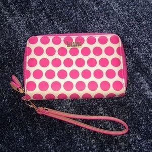 Kate Landry Polka Dot Wallet Clutch